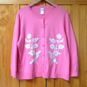 Garnet Hill | Floral Embroidery Cardigan